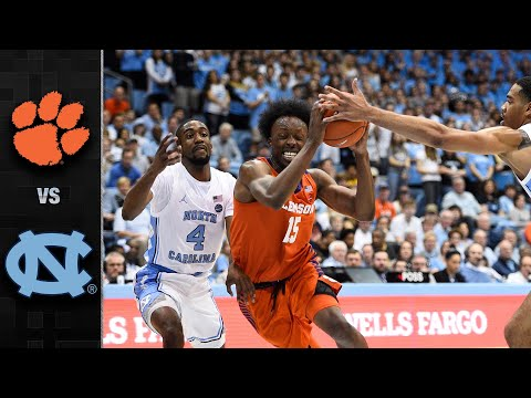 Clemson Vs. North Carolina Men's Basketball Highlights (2019-20)