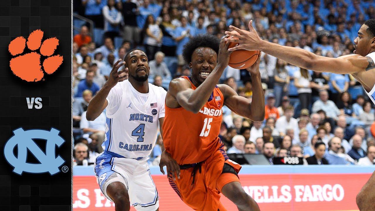 Clemson vs. North Carolina Men's Basketball Highlights ...