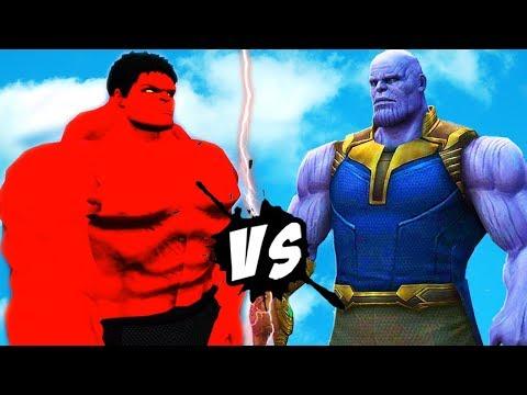 THANOS VS RED - HULK - EPIC FIGHT SCENE