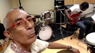 Répétition avec un des ateliers du Conservatoire de Musique de Nouvelle Calédonie