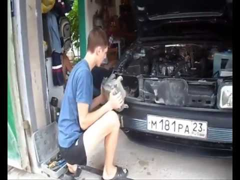 Установка разгрузочных реле на фары VW Passat B3