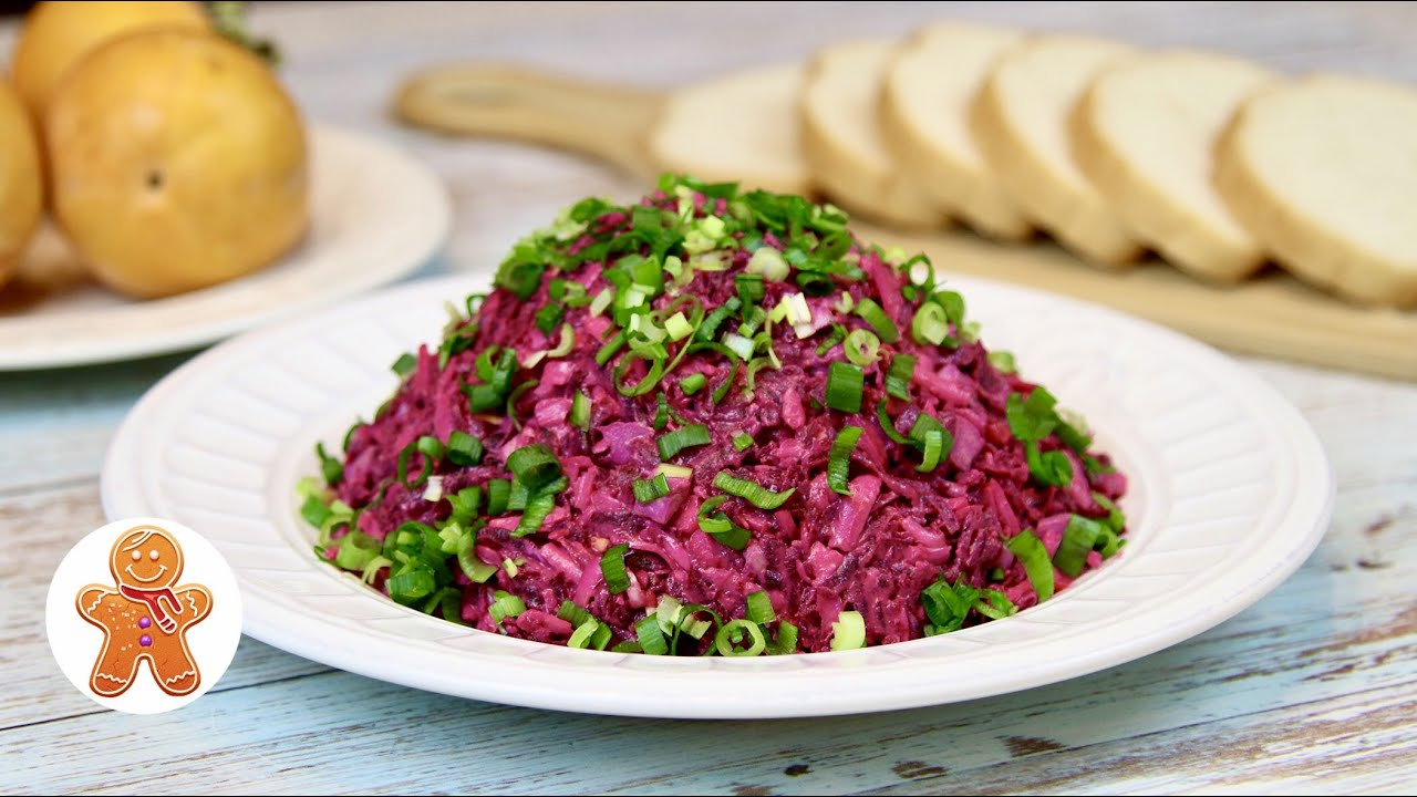 Простой и Очень Вкусный Салат со Свеклой