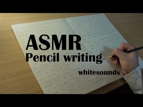 ASMR pencil writing sound - 40 minutes hand writing on notebook