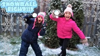 Snow Ball Fight!! family fun time with snow