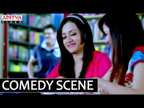 Venkatest And Trisha Library Comedy Scene - Bodyguard Telugu Movie
