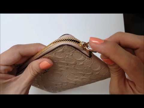 4c45ab653 Coach wristlet monedero original - YouTube