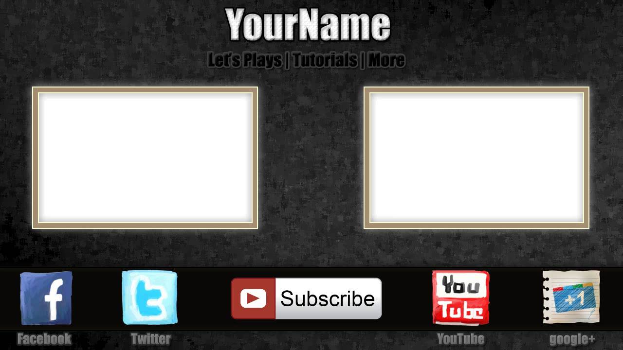 Free outro template 0004 2d paint net photoshop for Free outro template
