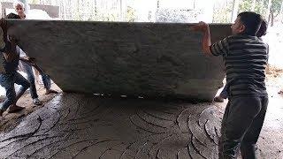 How to install big granite slabs in flooring ग्रेनाइट का पुरा पत्थर कैसे लगाये
