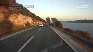 Дорога на Дубровник, вдоль побережья адриатического моря Хорватия.(Дорога D8 на Дубровник, вдоль побережья адриатического моря. Хорватия. На видео виден спуск вниз, к воде,..., 2015-04-28T20:31:01.000Z)