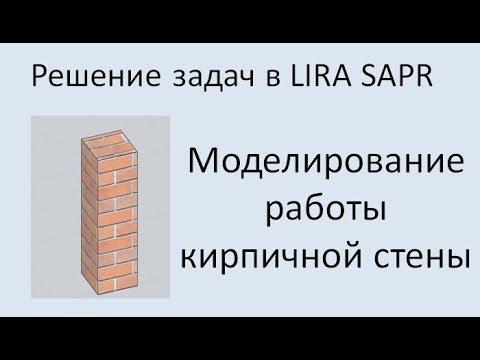 Lira Sapr Моделирование кирпичной кладки