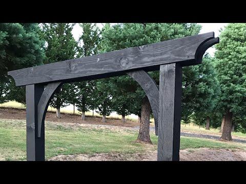 DIY Gate Arbor