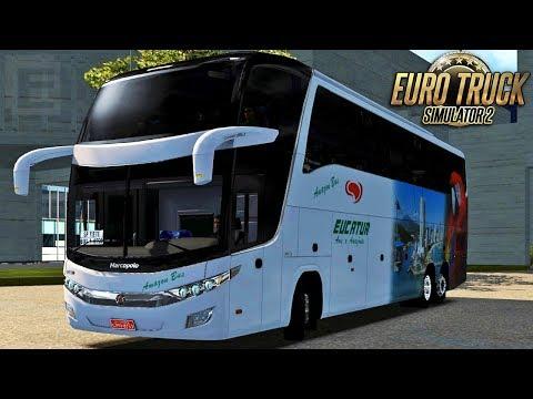 Euro Truck Simulator 2 - Bus | Eucatur - Cuiabá/São Paulo - Brasil Total + RBR