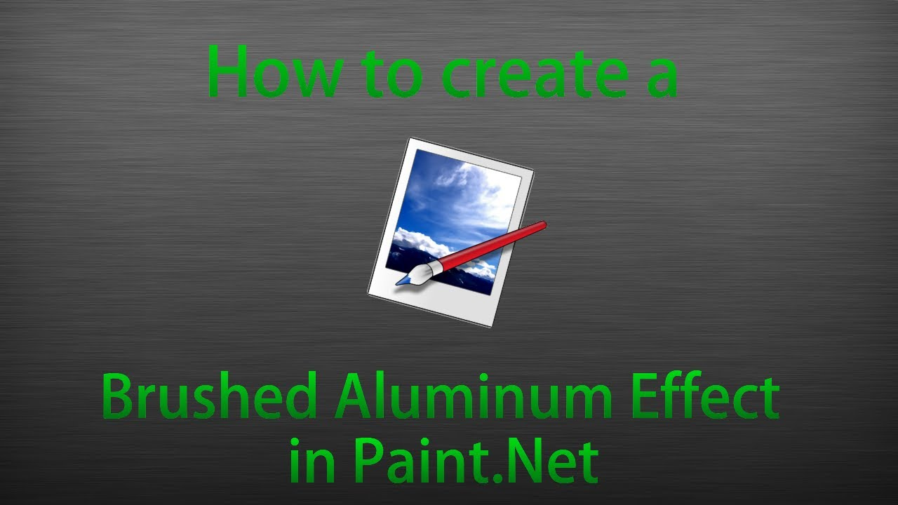 Tutorial 1 brushed aluminum effect youtube for How to make metallic paint