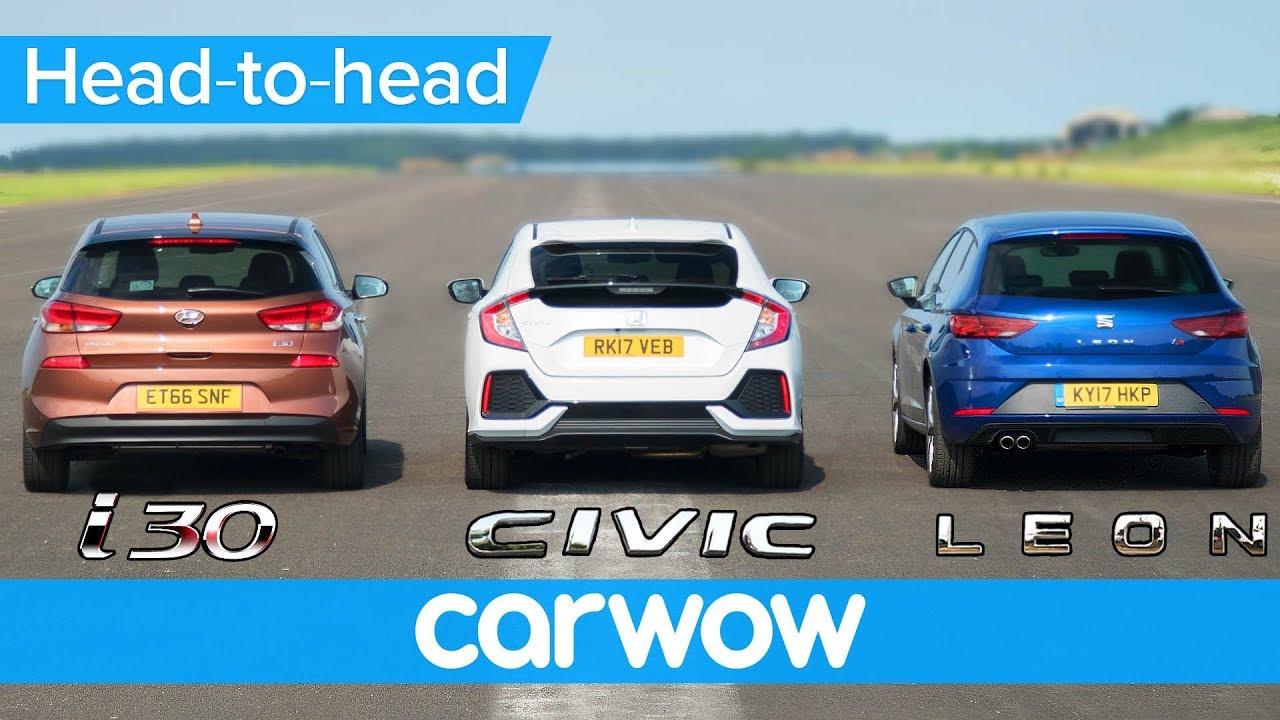Honda Civic Vs Hyundai I30 Vs Seat Leon Real World Drag Race