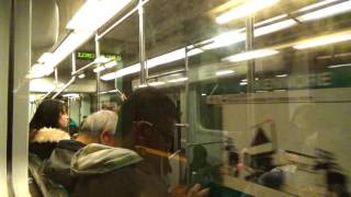 MBTA Green Line B Branch FULL RIDE (Park Street to Boston College)