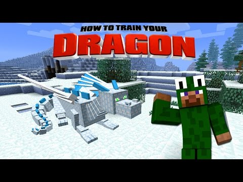 Minecraft  HOW TO TRAIN YOUR DRAG 2  11 Frozen Drag Rescue
