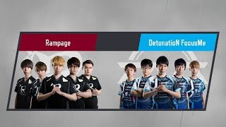 LJL 2017 Summer Split Round5 Match3 Game1 RPG vs DFM