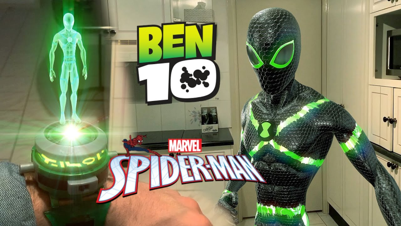 Ben 10 Transforming Into Spider-Man (VFX TEST)