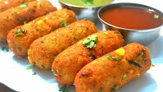 Corn Kebab | Crispy Corn Kebabs | Corn Cutlets | Instant Snack Recipe| Party Appetizer
