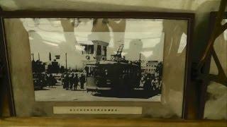 【車内に路面電車の歴史写真展示】中国大連市内を走る路面電車に乗車