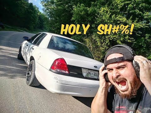 LOUD AF!!! Rear Cat Delete On The Crown Vic Sounds Like A Monster Truck, Pops Like A Rally Car!