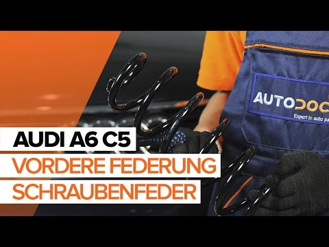 Wie AUDI A6 C5 Fahrwerksfedern vorne wechseln TUTORIAL   AUTODOC