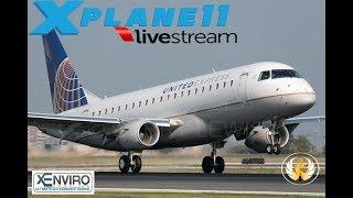 X-Plane 11  A320 752 B738 E170 A319      VATSIM      KPSP-KSFO-KSAN-KPHX-KTEX
