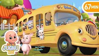 The Wheels On The Bus | Jugnu kids Nursery Rhymes and Baby Songs for Kindergarten
