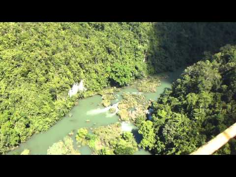 Cable car above Loboc River valley, Bohol, Philippines (1)