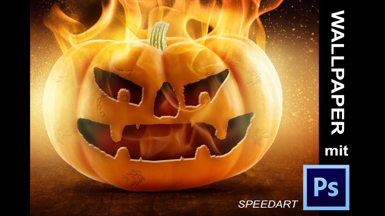 Halloween wallpaper mit photoshop erstellen speedart hd youtube - Wallpaper erstellen ...