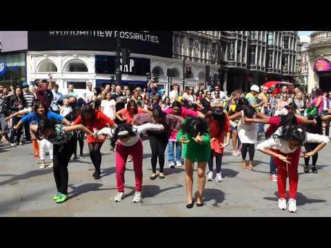 Indian Independence Day flashmob London 2015