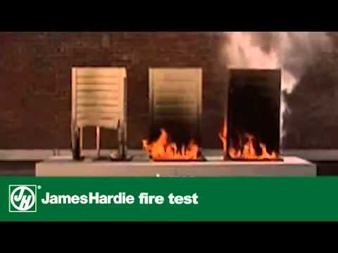 South jersey james hardie siding fire test youtube for Hardiplank fire rating