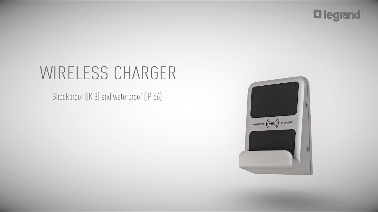 Wireless Charger flush wall-mounted IP66 - IK8