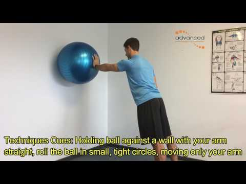 SHOULDER EXERCISES Swissball Mini circles
