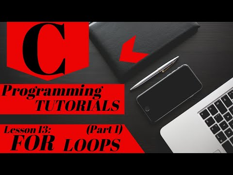 C Programming Tutorial | Lesson 13 | FOR LOOPS (Part 1) thumbnail