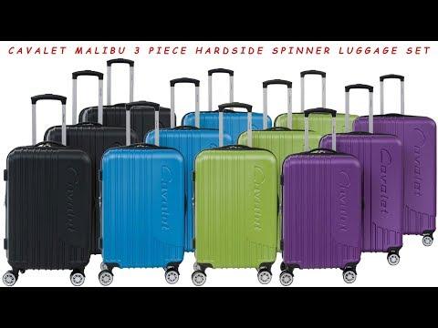 Cavalet Malibu 3 Piece Hardside Spinner Luggage Set