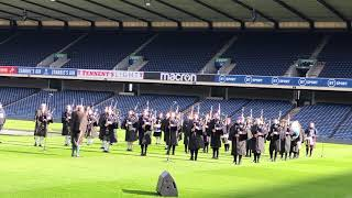 Rugby - Tournoi des Six NationsRépétitions du Flower of Scotland à Murrayfield