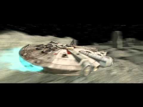 Millennium Falcon on Saturn's Moon - Cheetah 3D v7 Test Render