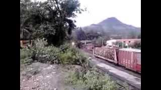 Tren pasando por Bahuichivo