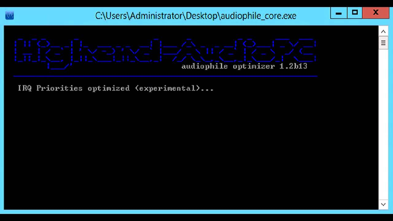 Audiophile Optimizer