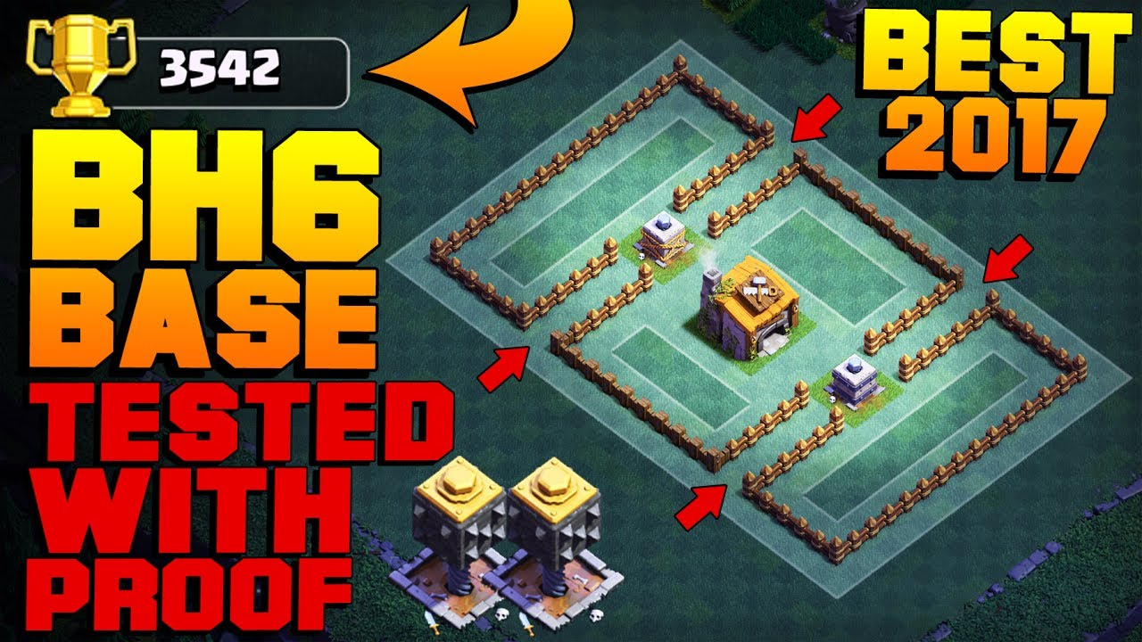 Best Builder Hall 6 Base 3500 Proof New Coc Bh6 Base