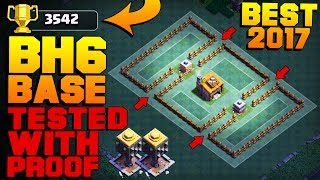 BEST Builder Hall 6 Base +3500 PROOF! | New CoC BH6 Base After NIGHT WITCH UPDATE! | Clash of Clans
