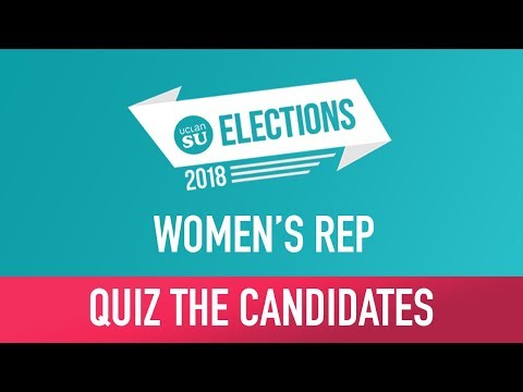 Quiz The Candidate: Women's Rep   SU Elections 2018