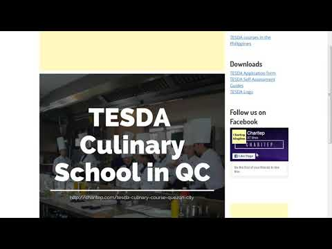 TESDA Culinary Schools Address and Contact Numbers in Quezon city
