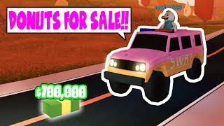 SELLING DONUTS TO CRIMINALS FOR NO ARREST!! *TROLL* (Roblox Jailbreak)