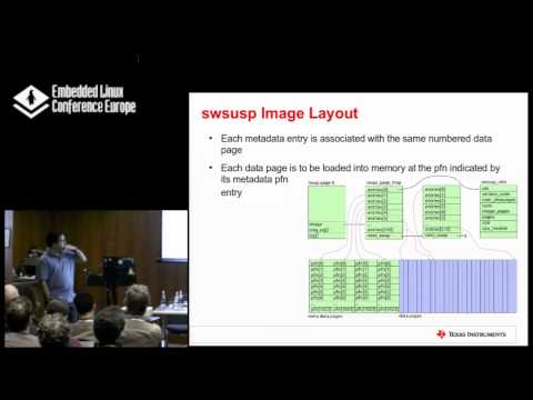 Extending the swsusp Hibernation Framework to ARM - Russell Dill, Texas Instruments