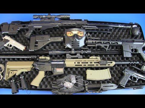 Box Of Airsoft Guns Toys ! Military Guns & Equipment Toys