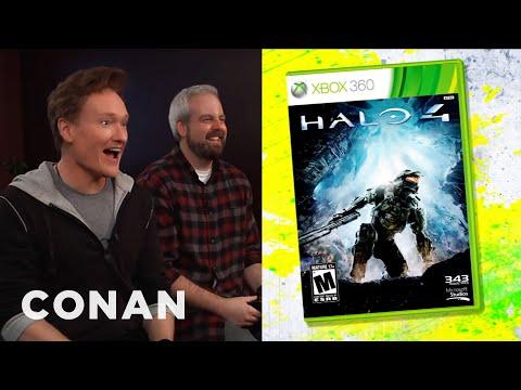 """Conan O'Brien Reviews """"Halo 4"""" - Clueless Gamer - CONAN on TBS"""