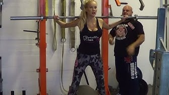 Kristina Karjalainen training with GripMonster