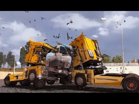 MAZ 504 MOD - 10 Heavy Crash Tests - New ETS 2 Modes - Eurotruck Simulator II